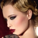 Makeup winter 2013, gold highlights to look very chic