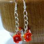 How to make earrings in fimo rose-shaped