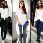 How to match a white shirt Women