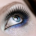 How to create a make-up silver-blue