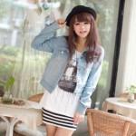 How to match a denim miniskirt