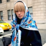 The wardrobe in a headscarf