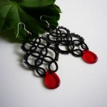 How to make earrings tatting