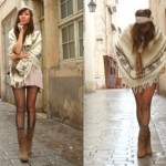 How to match the wool ponchos