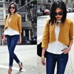 Crop top and cropped jacket