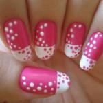 Nail art: nail in three colors