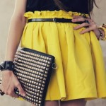 How to match a yellow skirt